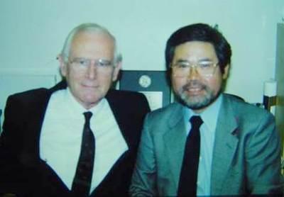 稲葉繁先生とドイツ チュービンゲン大学のエーリッヒ・ケルバー先生